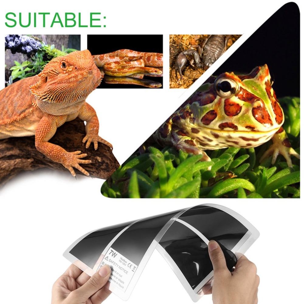 110V 7W Pets Rapid Heating Sheet Reptile Crawler Waterproof Temperature Heating Pad Warmer Mat With Temperature Controller