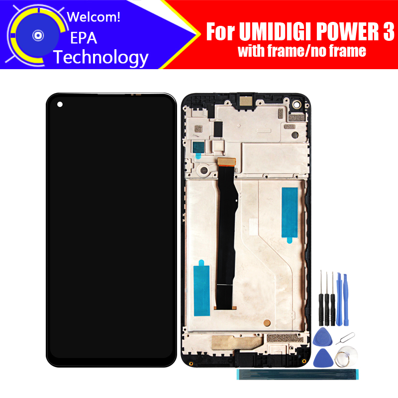 UMIDIGI POWER 3 LCD Display+Touch Screen Digitizer 100% Original Tested LCD Screen Glass Panel  For UMI POWER 3+tools+ Adhesive