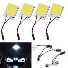 Auto domek z podświetleniem LED lampa lampa COB pokładzie T10 podwójna końcówka 18 24 36 48 lampa Led lampa dachowa Super jasne światła panelu 3W 12V