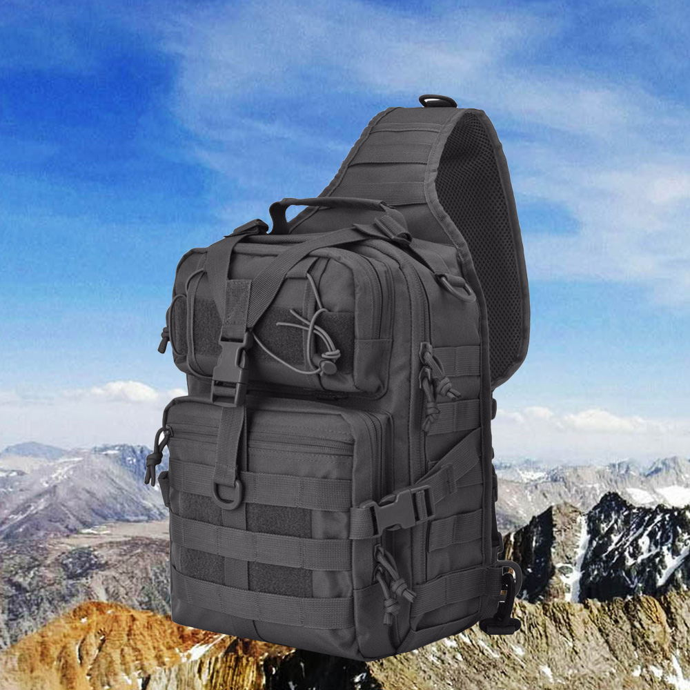 20L Tactical Bag Assault Pack Sling Backpack Army Molle Waterproof EDC Rucksack Bag for Outdoor Hiking Camping Hunting Military image