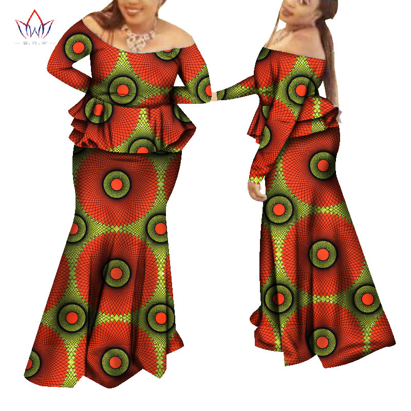 Plus Size Fashion African Sets For Women Dashik Private Custom Traditional African Clothing Sexy African Skirt Set WY964
