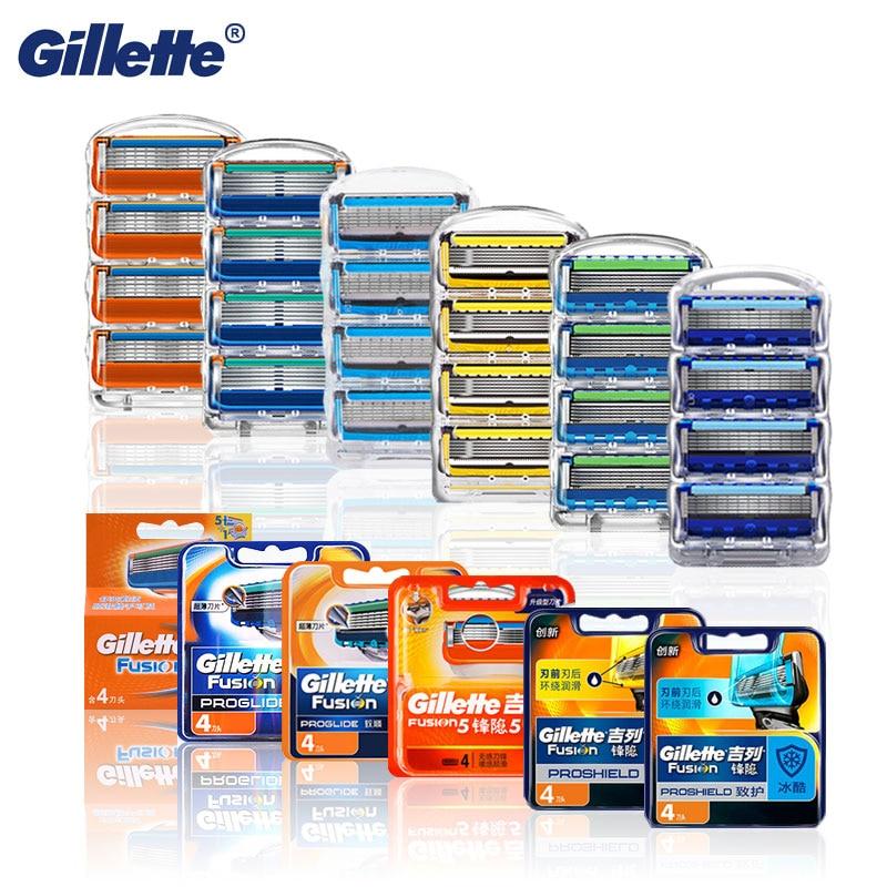 Бритвенные лезвия кассеты для бритья для Gillette Fusion 5 Proglide для лица бритва Чехол для мужчин ручное бритье Сменные Мужские t лезвия для бороды