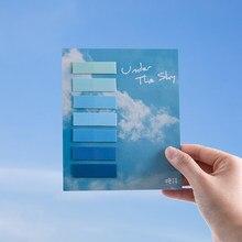 Tianzi 70 sztuk/partia piękne dekoracje kolor uwaga papier notatnik notatnik pamiętnik dekoracji samoprzylepne uwaga pad post it piśmienne