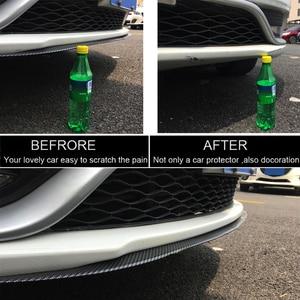 Image 2 - 2.5m zderzak samochodu ochraniacze Splitter Body zestawy Spoiler zderzaki zderzak drzwi samochodu Carbon Fiber Rubber Lip 65mm szerokość taśmy