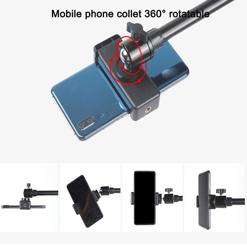 Support réglable de tir d'angle élevé de téléphone portable de photographie avec le bras de Boom trépied léger d'anneau de Bluetooth pour la prise de vue de Photo/vidéo - 6