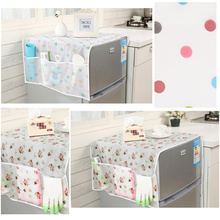 1Pc Household Refrigerator Dust Cover with Pocket Storage Bags Washing Machine Cover Hanging Bag Kitchen Organizer Accessories