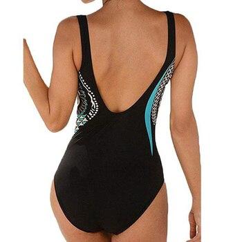 Swimwear Women 2019 One Piece Swimsuit Push Up Sexy Bathing Suit Women Swimming for Beach Wear Monokini Plus Size Swimwear 3XL 4