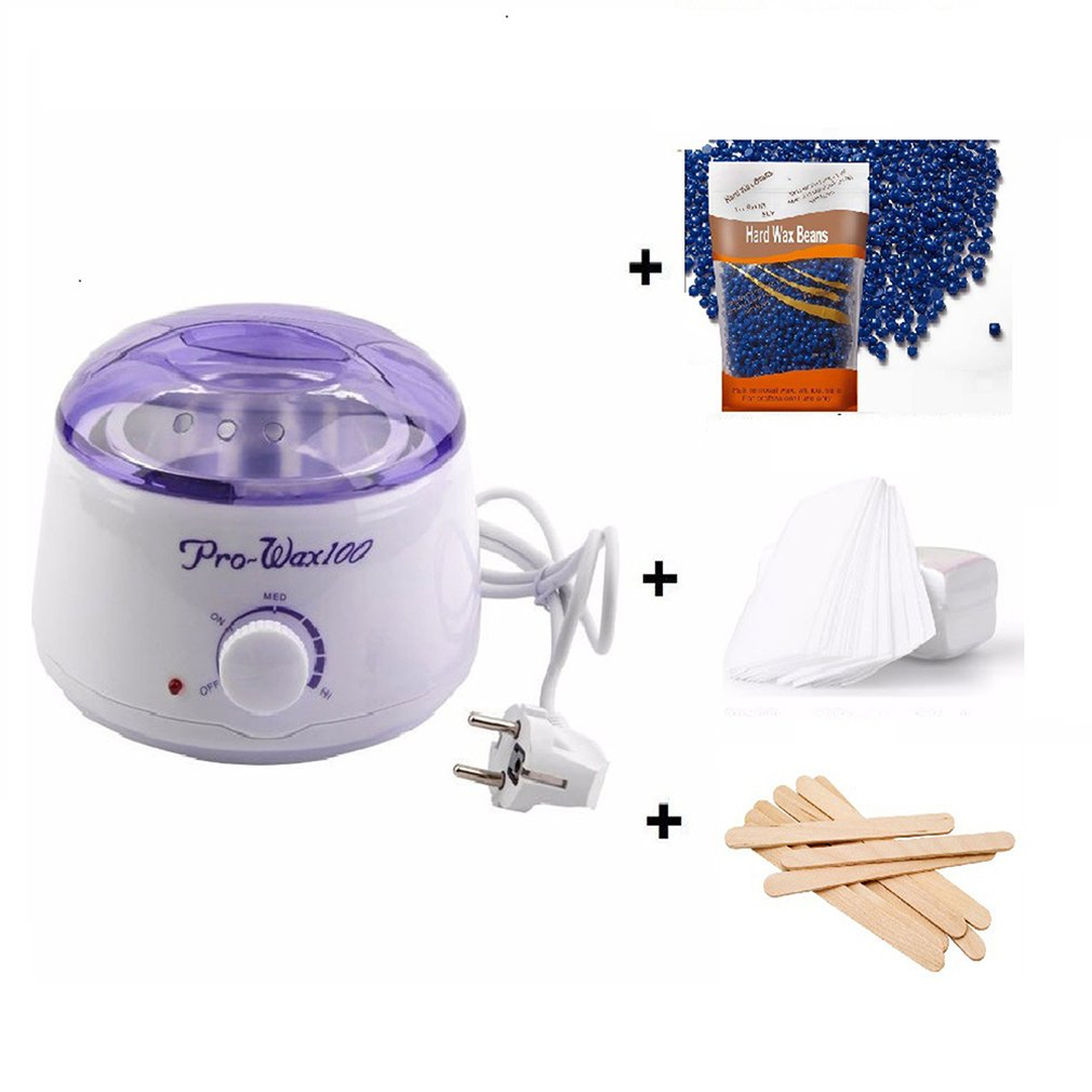 Hair Removal Set Wax Machine Heater Wax Stick Paper Free Hair Removal Wax Bean Solid Hard Wax Wax Beauty Salon Toiletry Kits Aliexpress