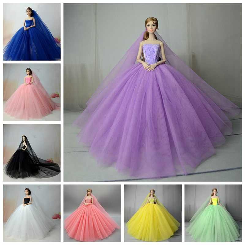 دمى اكسسوارات ملابس دمى ل 1/6 SD BJD الملونة الرسمية اليدوية فستان الزفاف لعبة للأطفال دمية Clothe فتاة لعبة