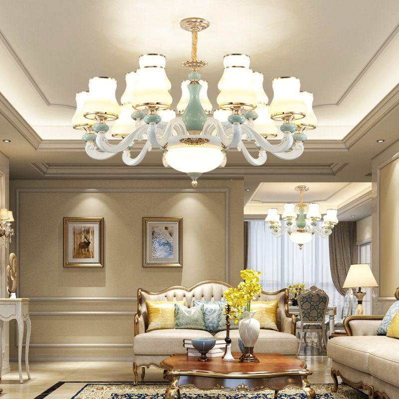 Nordycki wisiorek lampa lampa do salonu kreatywny sypialnia jadalnia pokój kryształ lampa luksusowe atmosferyczne oświetlenie salonu