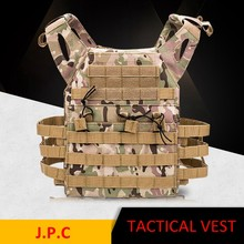 Outdoor Tactische Vest Airsoft Paintball Cs Game Body Armor Leger Molle Plate Carrier Vest Militaire Apparatuur(China)