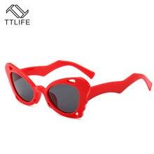 TTLIFE Cat Eye Shade For Women Fashion Sunglasses Brand Woman Vintage Retro Triangular Glasses Feminino Sexy YJHH0219