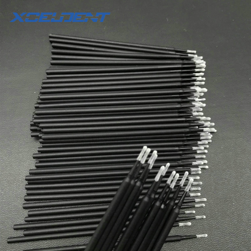 100pcs Dental Disposable Micro Applicator Brush Black/White Size 1.2mm