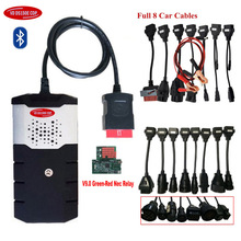 For delphis VD DS150E CDP OBD2 OBDII Cars Diagnostic Interface Tool vd tcs cdp 2015.3 cd with keygen+full 8 car/truck cables. new intelligent tcs cdp pro plus car truck auto obd2 scanner scan tools obdii diagnostic tool kit for autocom with cd