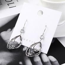 2019 BrincosTemperament Zircon Earrings women earrings s de mujer pendientes statement aretes long earring