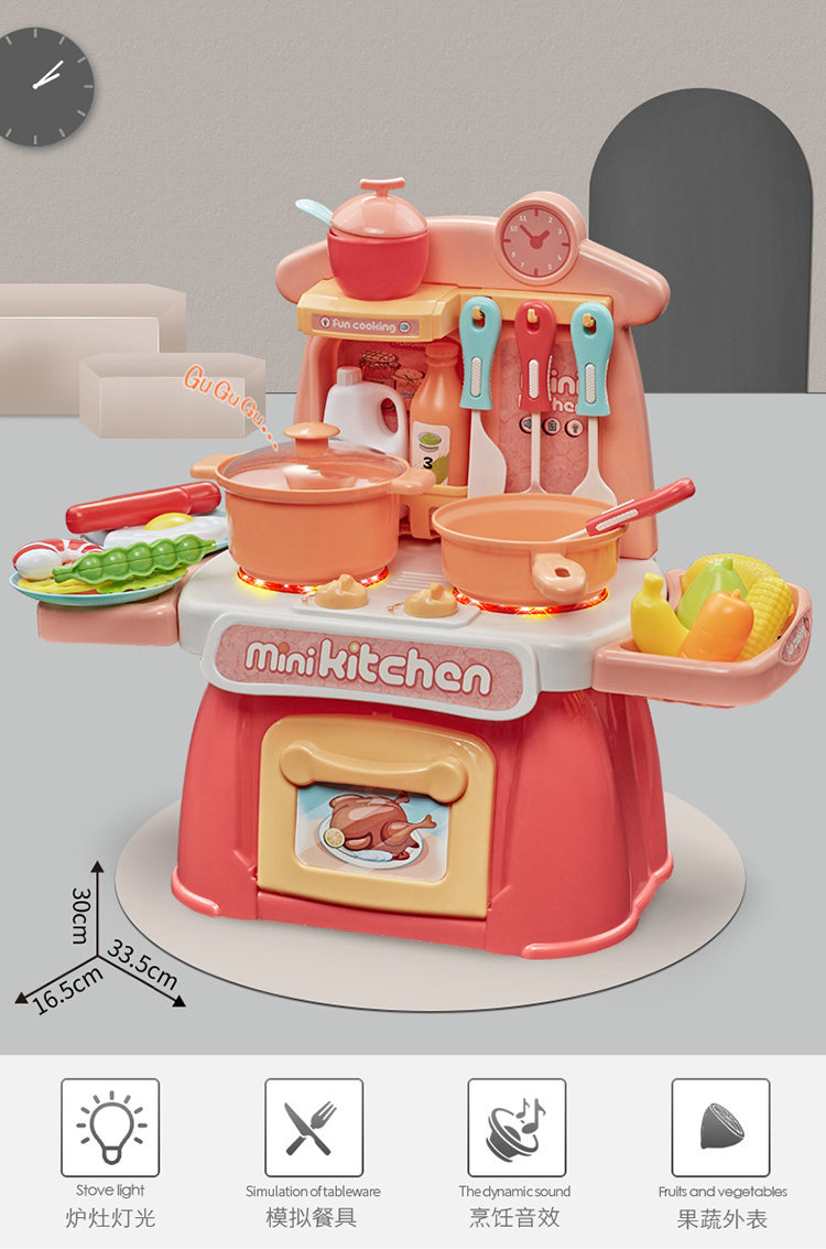 Mini Electronic Kitchen Set Toy With Miniature Food Kids Pretend Play Cooking Game Children S Girls Toys 3 6 Years Aliexpress