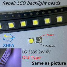 100PCS FOR LCD TV repair LG led TV backlight strip lights with light-emitting diode 3535 SMD LED 3535 2W 6V 150LM Old Type(China)