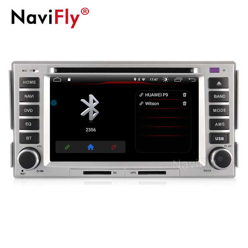 NaviFly Android 9.0 araba GPS navigasyon için Santa FE 2008 2009 2010 araba multimedya oynatıcı kafa ünitesi Wifi Stereo oto harita 2G RAM