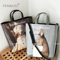 Animal Print dog totes bag Jumbo large capacity big shopping bag summer 2019 fall winter new black grey color