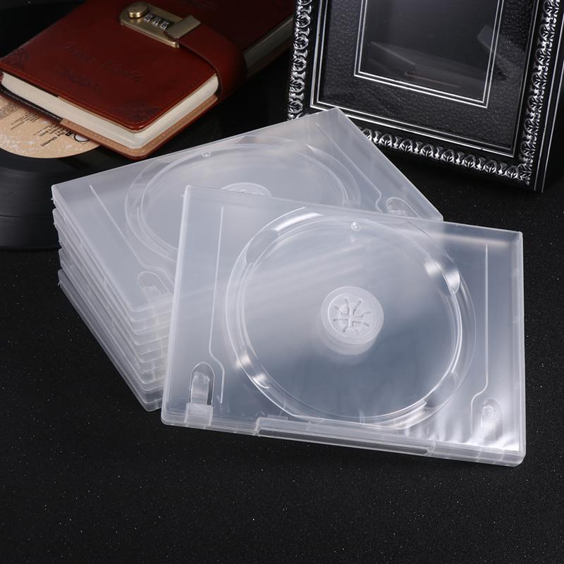 Caixa de armazenamento transparente de disco, 6 peças, dvd, organizador de cd, pacote portátil para cinema em casa