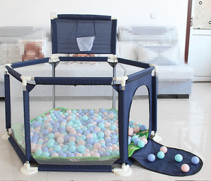 Baby Playpen Dry Pool For Children Portable Children's Playpen Folding Child Fence Child Safety Barrier Ball Pool Kids Bed Fence