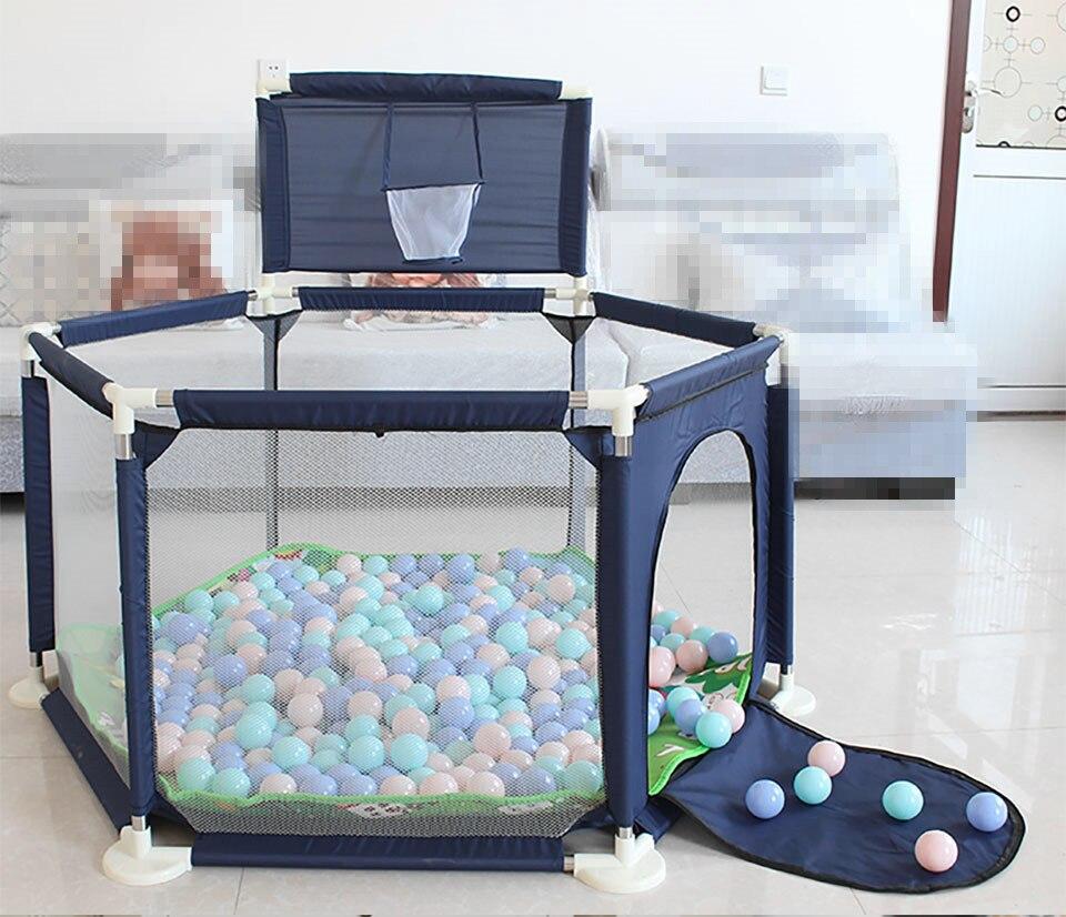 €10.53 29% de DESCUENTO|Corralito para bebés piscina seca para niños corralito portátil para niños valla plegable para niños barrera de seguridad para niños Piscina de bolas valla de cama para niños|Corralitos de bebé| - AliExpress