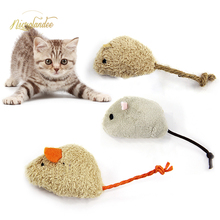NICROLANDEE 3 PCS Cat Toys, Catnip Mice, Mouse Interactive Play for Cat, Puppy, Kitty, Kitten