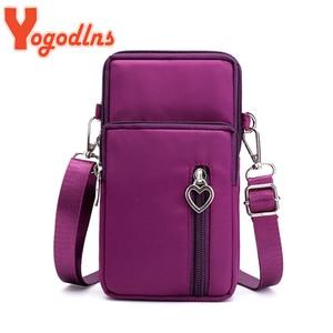 Yogodlns Crossbody Bags For Women Waterproof Nylon Multifunction Casual Small Bag Mobile Phone Case Crossbody Bag Sports Purse