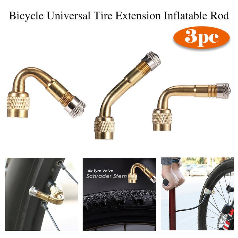 Tire Adapter Car Bicycle Extension Stem Tyre Valve Brass Motorcycle