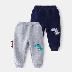 2021 весенние модные спортивные штаны для детей повседневные все-матч брюки для маленьких мальчиков, с принтом динозавра штаны для малыша От 1...