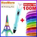 HooMore 3D ручка PLA нити 1,75 мм 3D печатная ручка ручки «сделай сам» карандаши для рисования с светодиодный Экран на день рождения образовательных ...