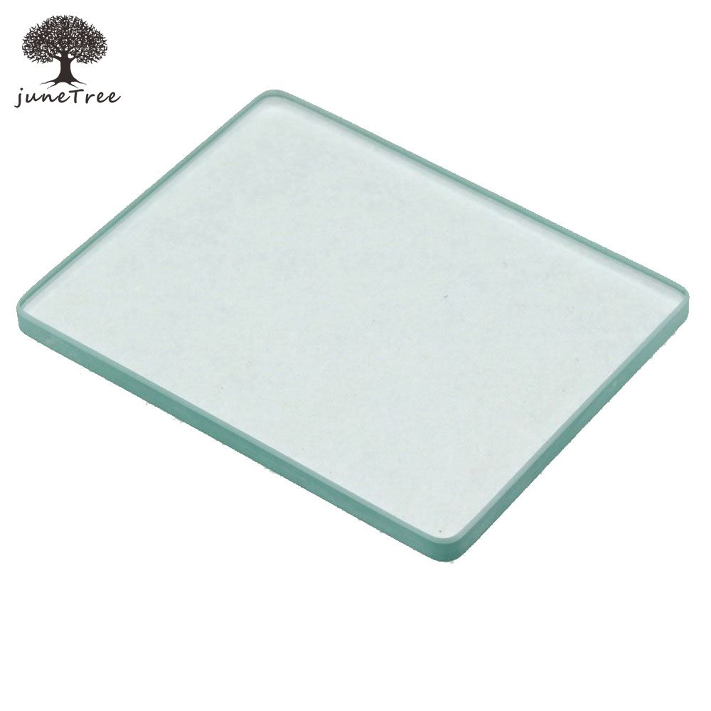 1pcs Leather Craft tempered//Toughened Glass Plate Smoothing Slicker Creaser Mat
