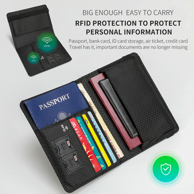 Tigernu Genuine Leather Passport Cover Business RFID Anti theft Men Card & ID Holder Wallets For Men Mini Money Bags Male Purses 4