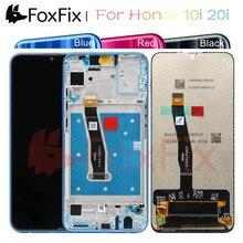 FoxFix תצוגה עבור Huawei Honor 10i LCD תצוגת מסך מגע לכבוד 10i 20i תצוגה עם מסגרת טלפון נייד LCD החלפה