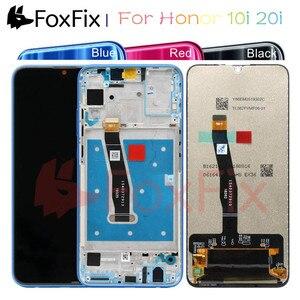 Image 1 - FoxFix תצוגה עבור Huawei Honor 10i LCD תצוגת מסך מגע לכבוד 10i 20i תצוגה עם מסגרת טלפון נייד LCD החלפה