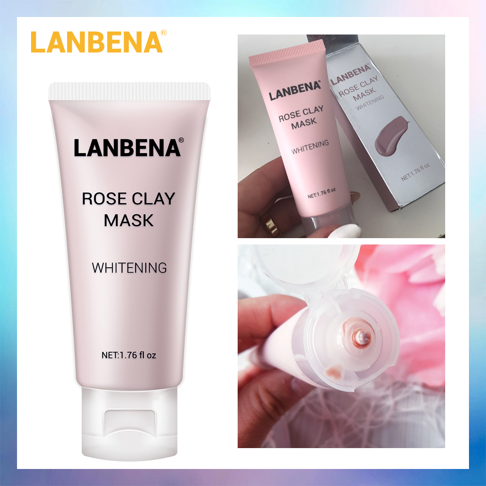 LANBENA Rose Clay Face Mask Moisturizing Nourishing Deep Cleaning Remove Grease Shrinks Pores Oil Controlling Firming Skin Care