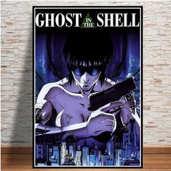 Poster and Prints Hot Ghost In The Shell Fight Police Japan Anime Art Paintings Canvas Wall Art Picture Home Decoration No Frame
