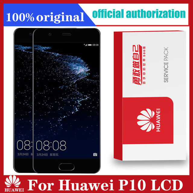 Original 5.1 Display with Frame Replacement for Huawei P10 LCD Touch Screen Digitizer Assembly VTR L09 VTR L10 VTR L29