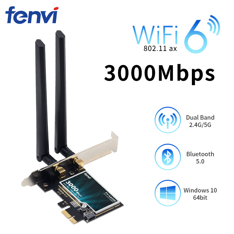 Desktop Wireless PCIe WiFi Adapter Intel Wifi6 AX200 Dual band 9260NGW ac Bluetooth 5.0 2.4G/5G 802.11ac/ax MU-MIMO Windows 10(China)