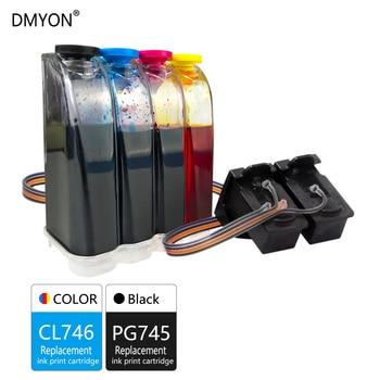 DMYON Compatible for Canon PG745 CL746 CISS Bulk Ink Cartridge for Pixma MX497 TS207 307 3170 TR4570 MG2570 IP2870S Printer