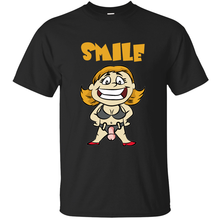 Customize Comical smile strapon dominatrix dildo pegging cuckold sub t-shirt 2019 Pictures black tee shirt Anti-Wrinkle Loose(China)