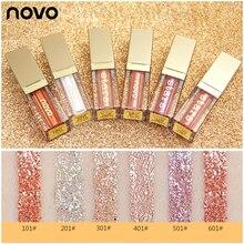 NOVO 6 colors Metal liquid Eye Shadow Long-Lasting Eyes Makeup Shimmer Glitter E
