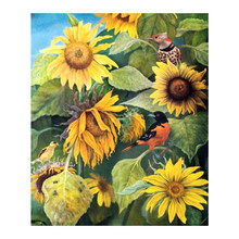 sunflower floral Moge Diamond Painting Oil Full Round New DIY sticking drill cross stitch 5D embroidery simple home decorative