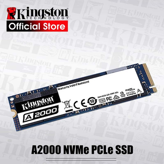 Kingston Internal Solid State Hard Disk 250G 500G 1TB  A2000 NVMe PCIe M.2 2280 SSD NVMe SSD For PC Notebook Ultrabook