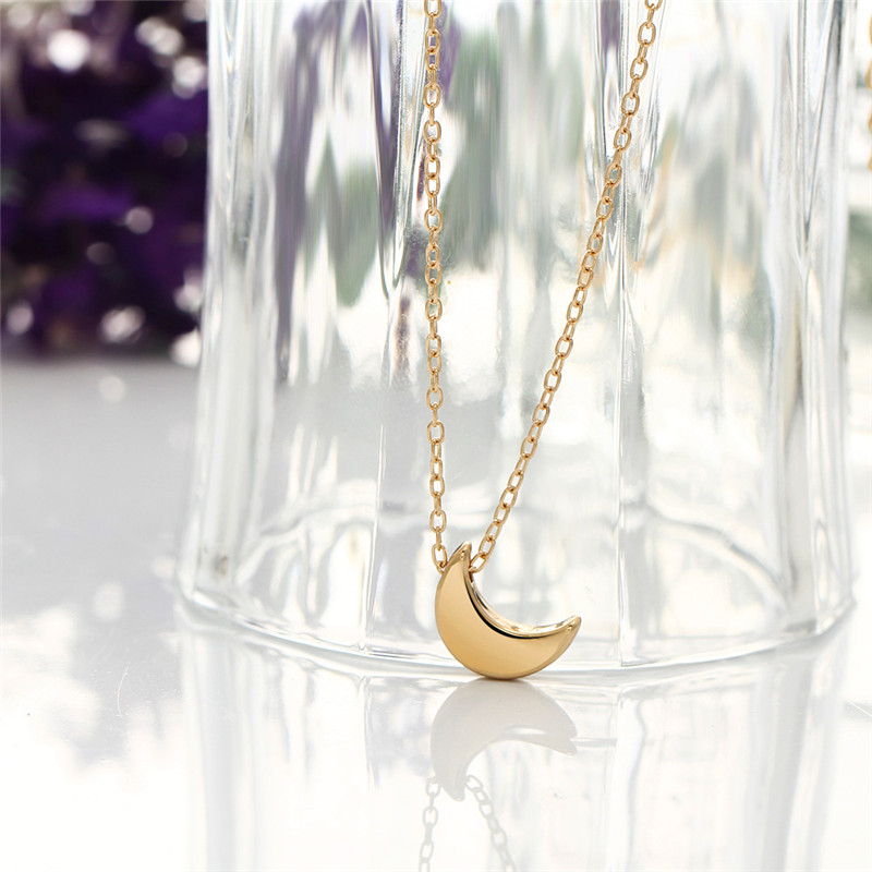 X ROYAL Women Party Wedding Luxury Moon Pendant Necklaces Collar Chain Fashion Chokers Gold Color Alloy Geometric Charm Necklace in Pendant Necklaces from Jewelry Accessories