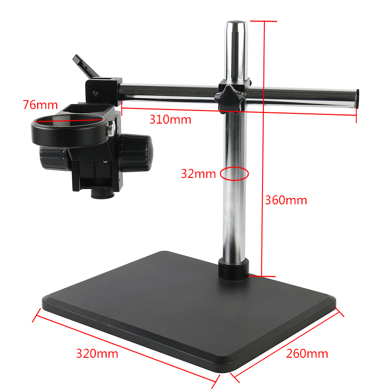 Trinocular Binocular Microscope Stereo Microscope Multi-angle  Adjustable Stand Boom Table Working 76mm Holder 32mm Arm