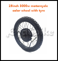 .19inch 3000w motorcycle color wheel with tyre