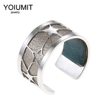 Cremo Argent Open Star rings For Women Bijoux homme Yoiumit stainless steel Interchangeable Leather Bague Femme
