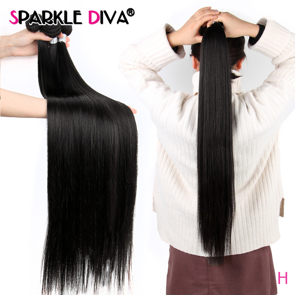Straight Hair 8-30 Inch 32 34 36 38 40 Inch Brazilian Hair Weave Bundles Natural Color Remy Human Hair Bundles Hair Extensions