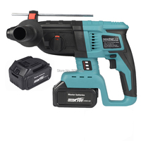 rechargeable brushless cordless rotary hammer drill electric Hammer impact drill with two 18V 4000mAh battery|Electric Hammers| |  -